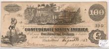1862 $100 Confederate Currency Richmond VA Type 39