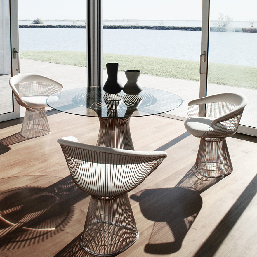 Platner Dining Table Arm Chair2