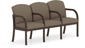 Weston Transitional Designed Three Seater w/ Dividing Arms