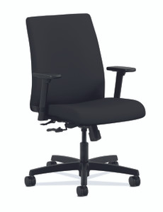 Ignition Upholstered Low Back Task Chair Quickship, black