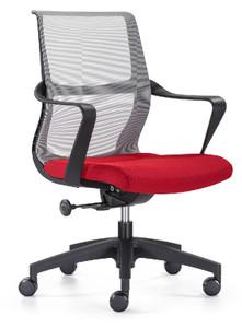 Red Seat Grey Elastomeric Mesh Back