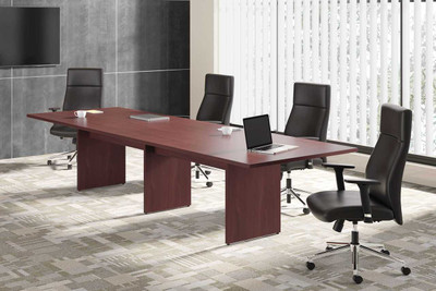 Leather Tuxedo Design Executive High Back in conference settign