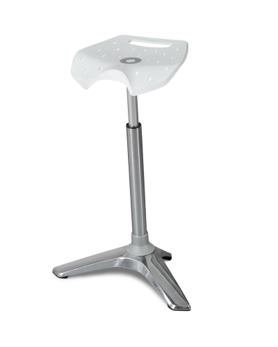 White Seat No Pad Silver Upright
