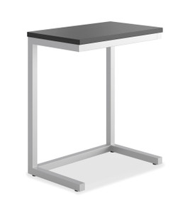 Hon Cantilever Table in Black Table Top and Silver Frame