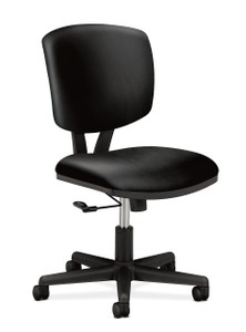 Hon Volt Center-Tilt Non-Mesh Task Chair in black leather