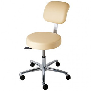 Medical Grade Stool w/ Adjustable Height Back