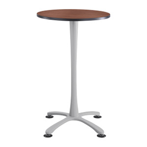 Cha-Cha™ Bistro Height Table, Biltmore Cherry, Metallic Gray Leg Finish