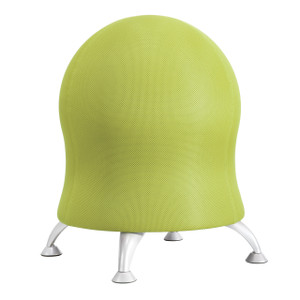 Grass Zenergy™ Ball Chair, with Silver powder coat legs and stationary glides for stability