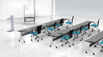 Flip-N-Go training tables add simple style and convenience to your seminar room
