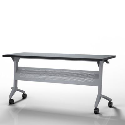 Flip-N-Go Training Table, Folkstone with Silver Leg Finish