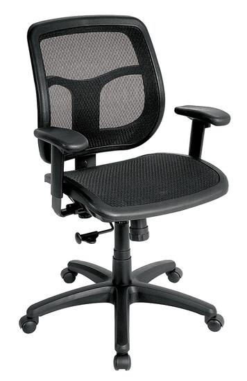 Elastomeric proven all mesh seat & back