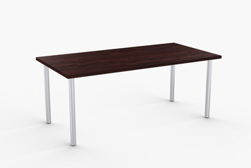 "Ella Training Table in Espresso with Metallic Sliver Legs 18"" x 60"""