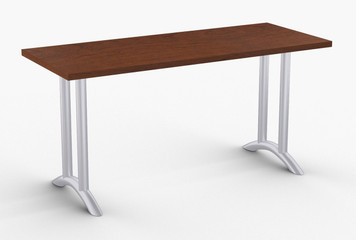 "Arcade Training Table in Cherry with Optional Metallic Silver Legs 24"" x 60"""