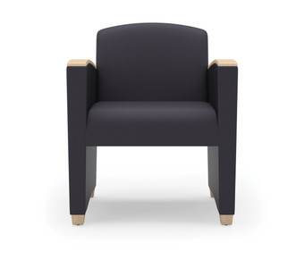 Savoy Upholstered Guest with wood arm accents