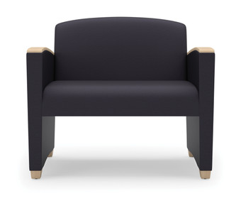 Savoy Upholstered Bariatric chair with wood arm accents