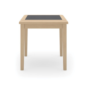 Savoy Wood End Table, Natural with Charcoal Matrix
