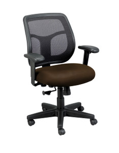 Apollo Upholstered Mesh Task Chair, Canyon Fabric in Mudslide