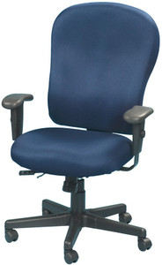 EuroTech 4x4 XL Upholstered Center Tilt Task Chair, Euro Fabric in Navy