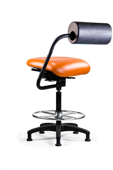 AbChair with Urethane AbRest and Upholstered Medium Seat; Stool Cylinder; Canter Tango