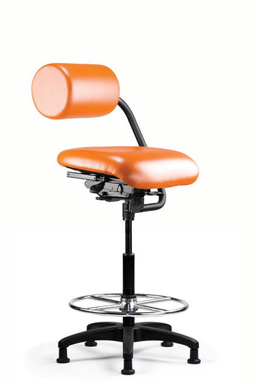 AbChair with Upholstered AbRest and Moderate Contour Seat with Stool Cylinder