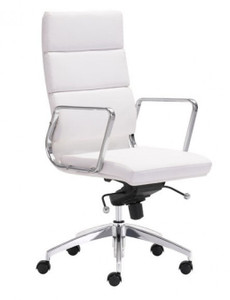 Engineer High Back in white leatherette