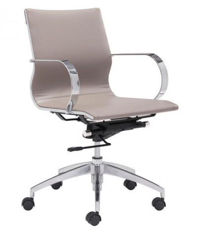Glider Mid Back in Taupe leatherette