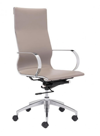 Glider High Back in Taupe leatherette