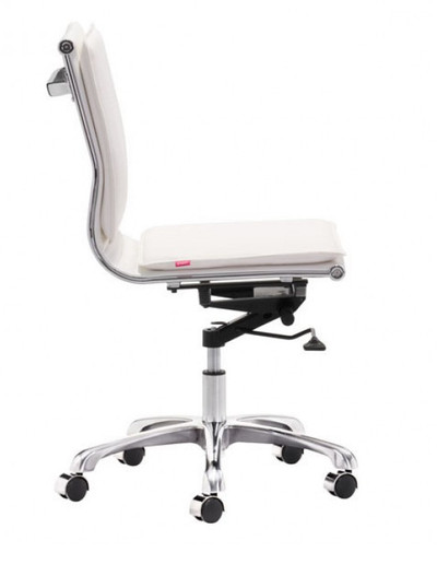 Lider Plus in White Leatherette