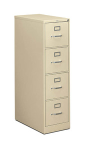Hon 310 Series Four Drawer Vertical File, letter in Putty (L)