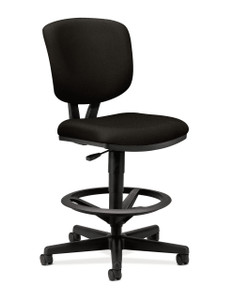 Hon Volt Upholstered Back Task Stool in Black Fabric