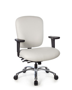 Everest Big and Tall High Back Task Chair in Mammut White Leather