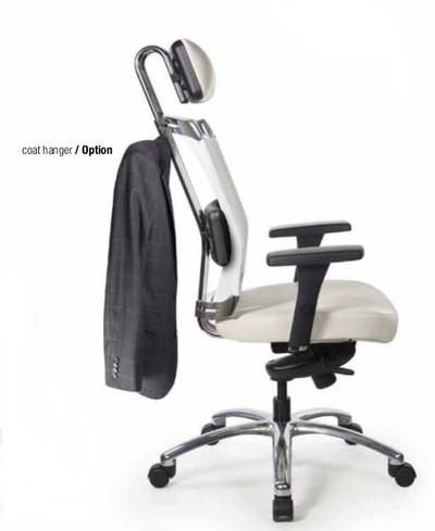 Voila High Back Swivel Tilt Task Chair with optional headrest and Coat Hanger