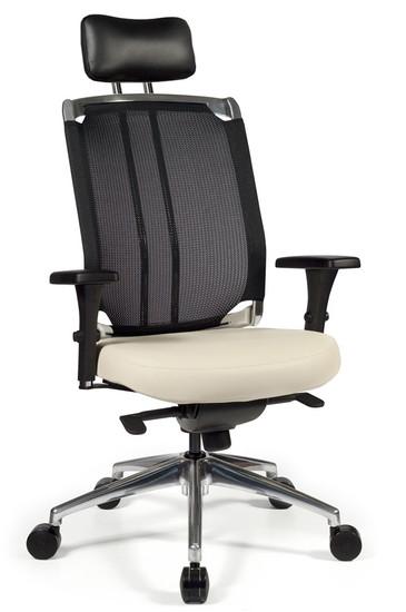 Voila High Back Swivel Tilt Task Chair with optional headrest and optional chromed back