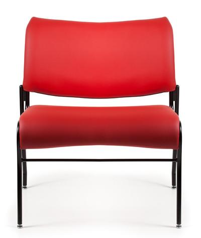 Cat Bariatric Upholstered Chair in Reflex Grade Origin Poppy with standard black frame finish, four legged