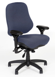 High Back Tasker with Minimally Curved Seat by BodyBilt ™