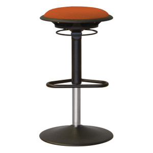Jax Upholstered Stool in Orange Mesh
