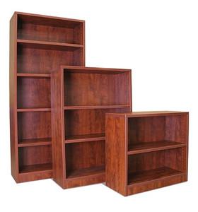 """30"""", 48"""", 71""""H Bookcases in Dark Cherry"""