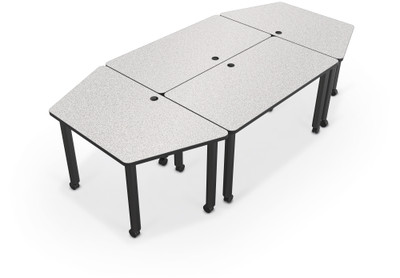 Incroyable Modular Conference Table With Trapezoid Ends