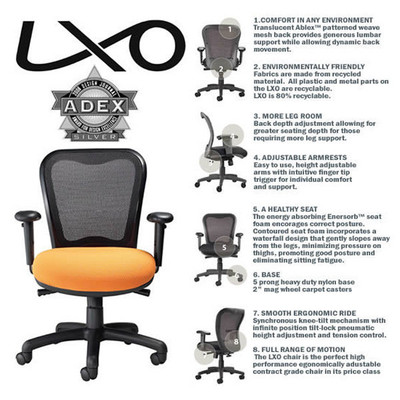 Nightingale LXO 6000 Ergonomic Task Chair Features