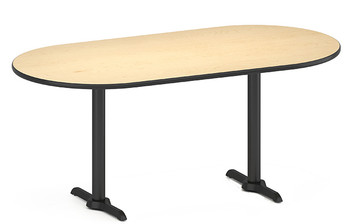 "Concord Oval Table, 36""W x 72""L x 30""H"