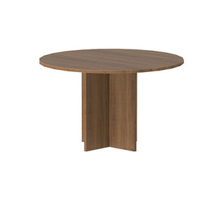 Amber Round Conference Table in Walnut