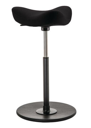 Varier Move Ergonomic Upholstered Stool in Fame 0999 with black base
