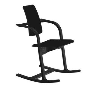 Varier's Actulum Work Chair in Black Revive fabric and frame