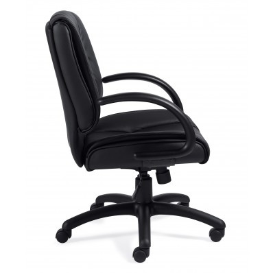 Offices to Go  Luxhide Executive Conference Chair  side view