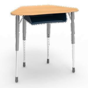 Zuma Series Trapezoid Student Desk with optional book box