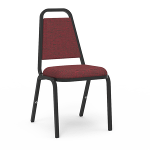 8900 Series Trapezoidal Back Stacking Upholstered Chairs in Linen Burgundy vinyl