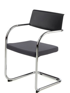 Knoll Moment™ Upholstered Side in Charcoal Grey/Grey