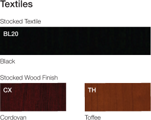 Two wood finishes are available