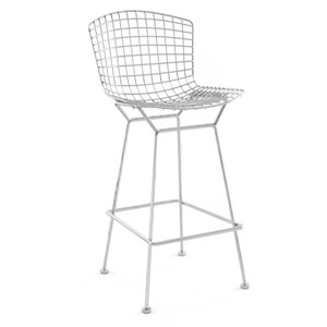 KnollStudio Bertoia Barstool, unupholstered bar height
