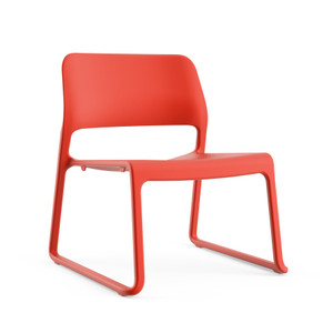 Knoll Spark Stacking Lounge Chair Quickship Red